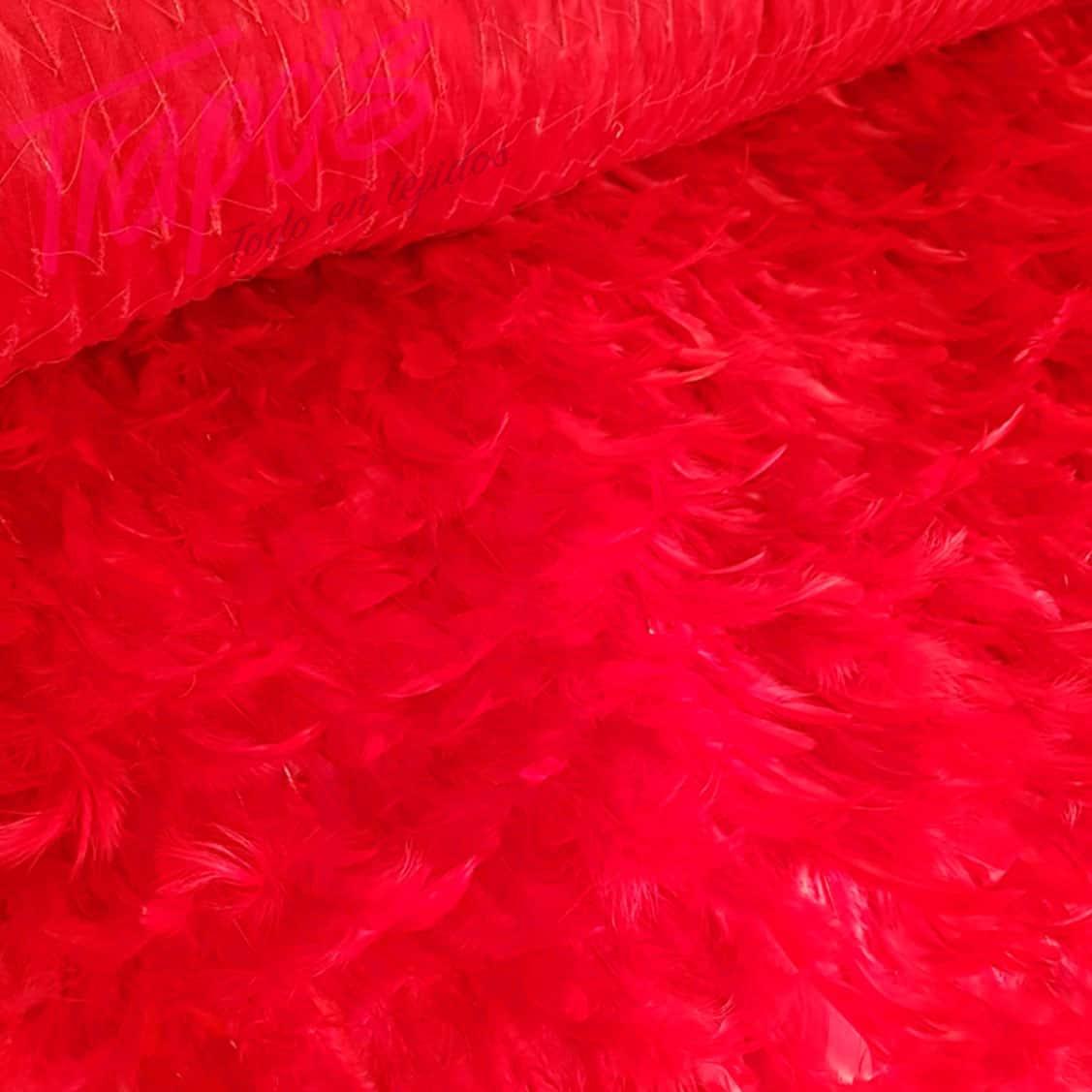 TELA-plumas-rojas