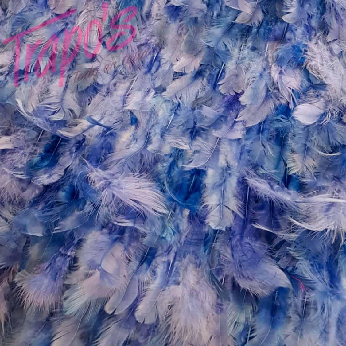 plumas-azul
