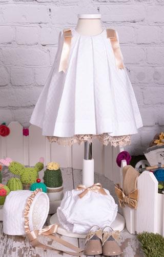 Vestido tablones blanco